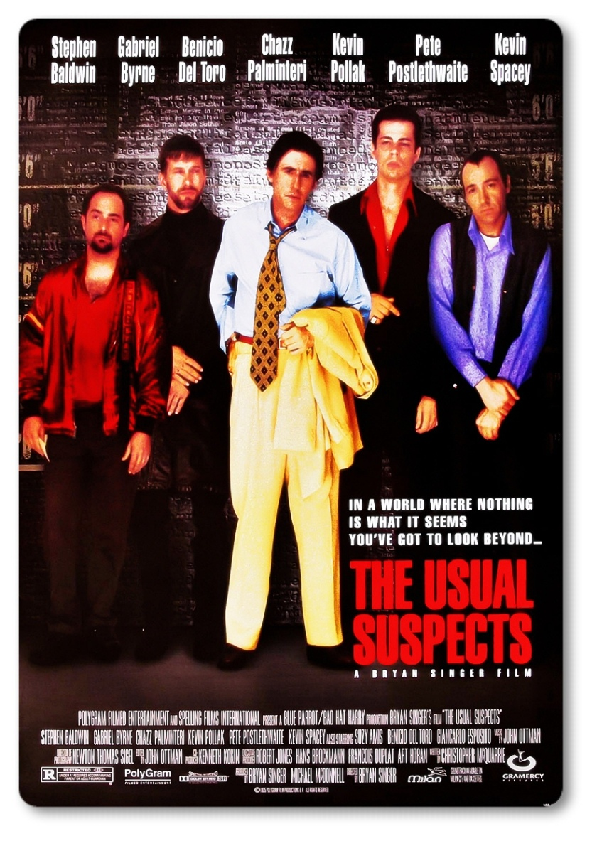 The Usual Suspects, Stephen Baldwin,Michael McManus,Gabriel Byrne, Dean Keaton,Подозрительные лица,1995,Bryan Singer,Benicio Del Toro